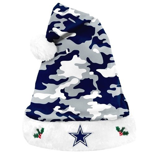 Dallas Cowboys Plush Camouflage Santa Hat 9e02382d1