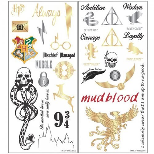 Harry Potter Temporary Tattoo Set - ST