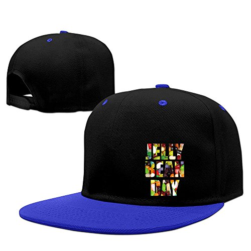 Happy National Jelly Bean Day Two-Toned Hip-Hop Snapback Hats One Size RoyalBlue