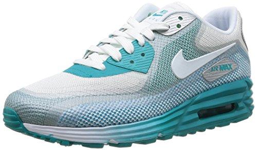 Nike Women's Wmns Air Max Lunar90 C3.0, LT BS GREY/WHITE-MTLLC SILVER-TURBO GREEN, 6 US (Nike Air Max Lunar90 C3 0 Womens)