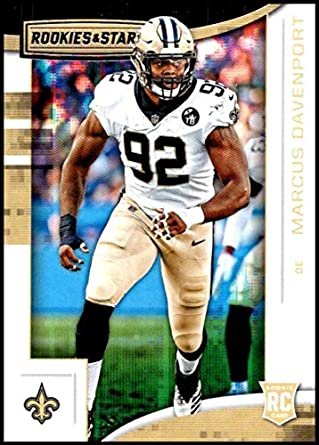 2018 Rookies and Stars Football  146 Marcus Davenport RC Rookie Card New  Orleans Saints Rookie 41f2f6028