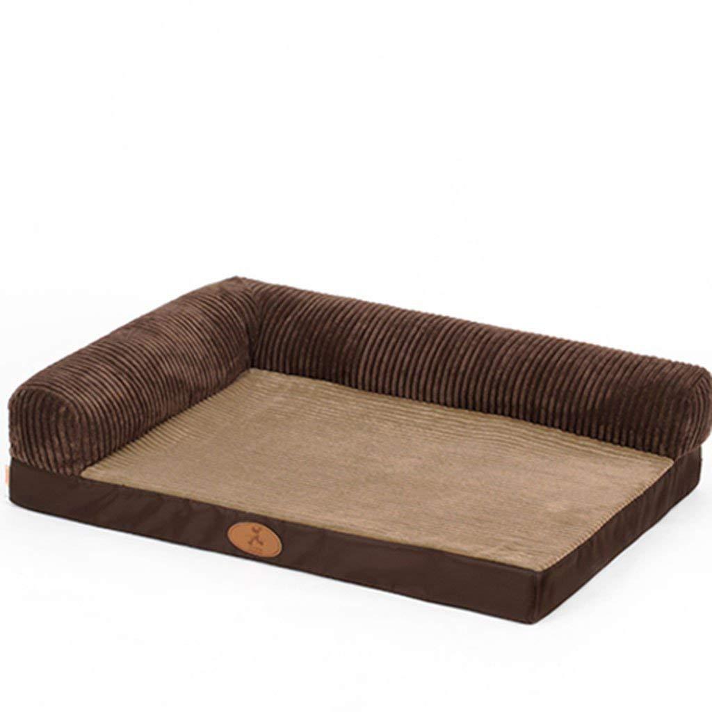 B 8060 cmDesti Flakes Kennel Mat Winter Dog Bed Labrador Sleeping Blanket Medium Large Dog Pet Nest golden Retriever Pet Supplies Keep Warm (color   B, Size   80  60 cm)