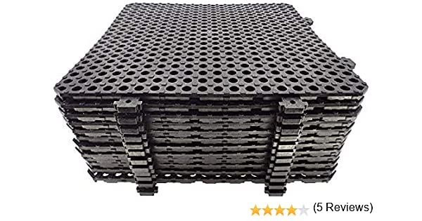 Losa tarima desmontable Náyade Block 30x30 marrón- Pack 12 Uds ...