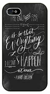 For SamSung Note 3 Case Cover Everything doesn't happen at once - black plastic case / Einstein, Inspirational and motivational life quotes / AUTHENTIC