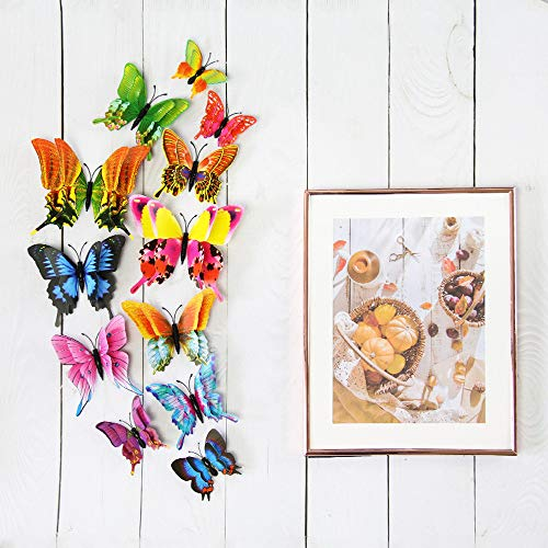 (12x 3D Butterfly Wall Sticker Fridge Magnet Room Decor Decal Applique Home Decor)