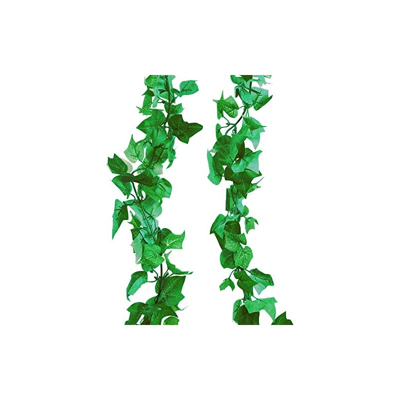 silk flower arrangements a-decor 84 ft-12 pack artificial ivy garland fake vines home wedding party garlands green decoration wall plants jungle leaves faux hanging greenery backdrop decorative leaf foliage face vine plant