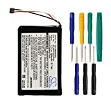 Cameron sino 1000mAh Li-ion Rechargeable Battery KF40BF45D0D9X Replacement For Garmin Approach G6 Handheld Golf GPS With Tools Kit