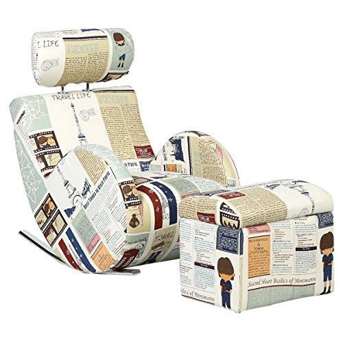 - Costzon Kids Sofa Rocking Chair Children Relax Armchair w/Storage Ottoman