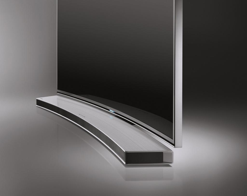samsung hw h7501 en curved 8 1 soundbar 320 watt bluetooth kabelloser subwoofer usb silber. Black Bedroom Furniture Sets. Home Design Ideas