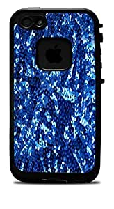 Blue Sequins Sparkles Print Pattern Vinyl Decal Sticker For HTC One M9 Phone Case Cover Lifeproof Case