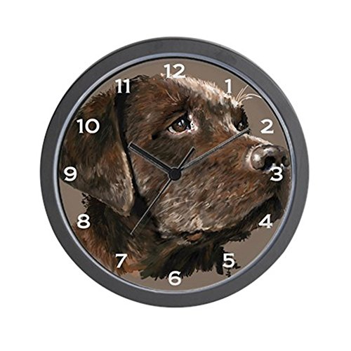 Choc Lab (CafePress - choc lab_wall clock.png Wall Clock - Unique Decorative 10