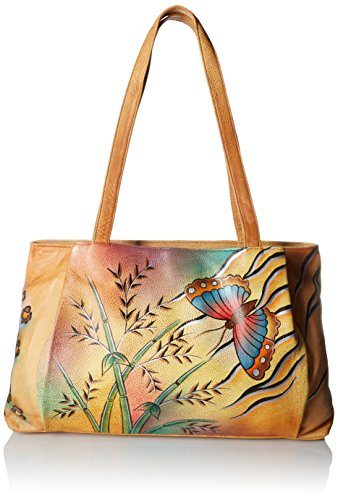 Anuschka Anna by Handpainted Leather Large Shopper, Jungle Butterfly