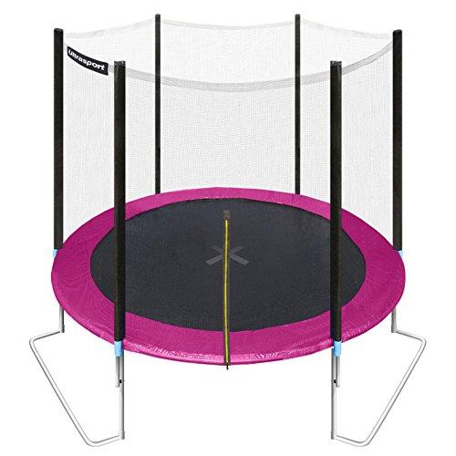 Ultrasport Gartentrampolin Jumper, Pink, 251 cm, 331300000230