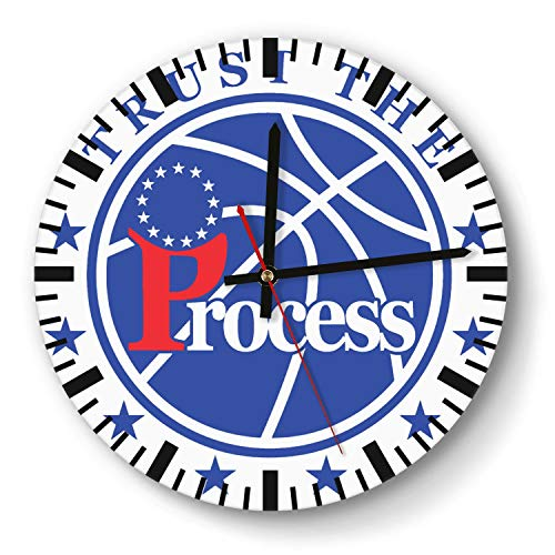 - Decorative Basketball Game Theme Wooden Wall Clock 11 Inch Diameter Acrylic Non Ticking Silent Sweep Movement Simple Battery Operated Easy to Hang Home Office School Indoor Kitchen Livingroom