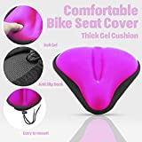Wide Exercise Bike Gel Seat Cushions [ WIDE SOFT PADS ] - Comfy Bicycle Saddle Covers for Women and Men - Fits Cruiser, Spin Bikes and Indoor Cycling,