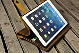 Personalized Leather ipad air 2 cover case stand/retro leather ipad mini 4 cover case/distress leather ipad air stand case -IPD05SD