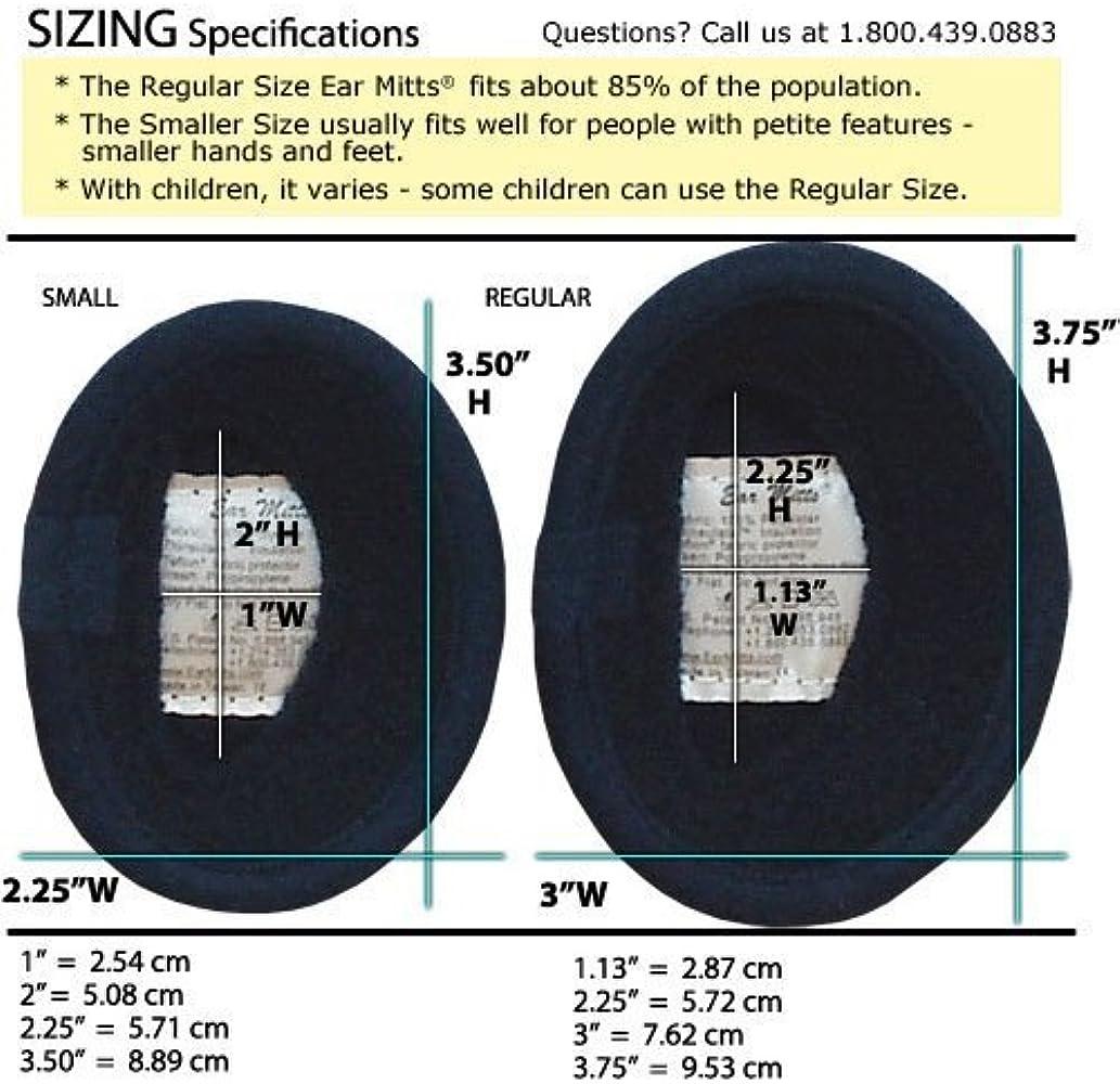 Black Velvet Ear Mitts Bandless Ear Muffs 100g ThinsulateTM Insulation /& DuPontTM Teflon Regular 2 sizes available