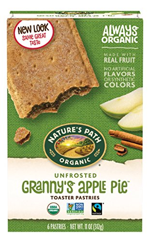 Granny Apple Pie - Nature's Path Organic Toaster Pastries, Unfrosted Granny's Apple Pie, 6 Count Box (Pack of 12)