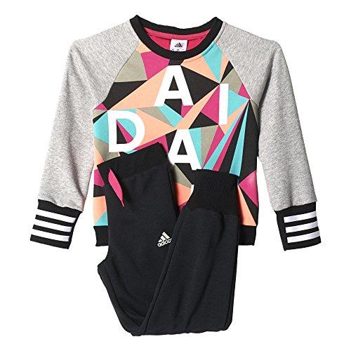 Adidas Kid LG Ri Crew pour Homme–Rose/Blanc/eqtros/Blanc, Taille 134