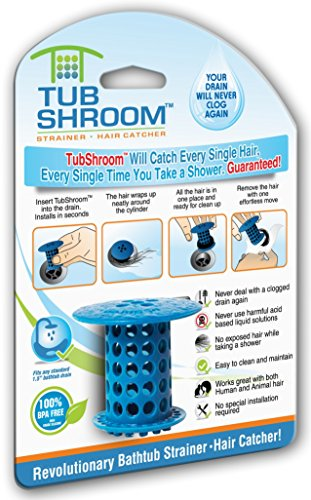 tubshroom-the-revolutionary-tub-drain-protector-hair-catcher-strainer-snare-blue