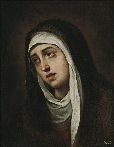 Oil Painting 'Murillo Bartolome Esteban La Dolorosa Ca. 1669', 10 x 13 inch / 25 x 33 cm , on High Definition HD canvas prints is for Gifts And Bar, Bed Room And Study Room Decoration