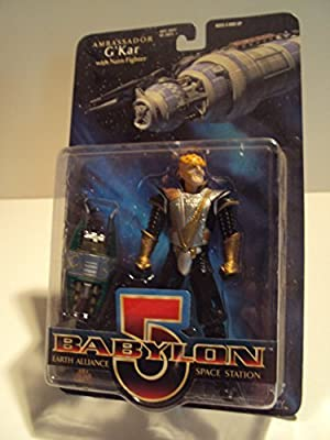1997 - WB Toys / Exclusive Premiere Dist - Babylon 5 Earth Alliance Space Station - Ambassador G'Kar Action Figure - w/ Narn Fighter - Rare - Out of Production - New - Collectible by Babylon 5