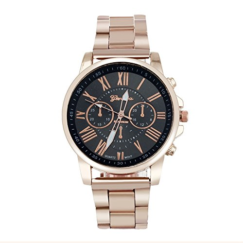 Mens Quartz Watch,Ulanda-EU Unique Analog Business Casual Fashion Wristwatch,Clearance Cheap Watches with Round Dial Stainless Steel Case,Stainless Steel Band la3 (Black)