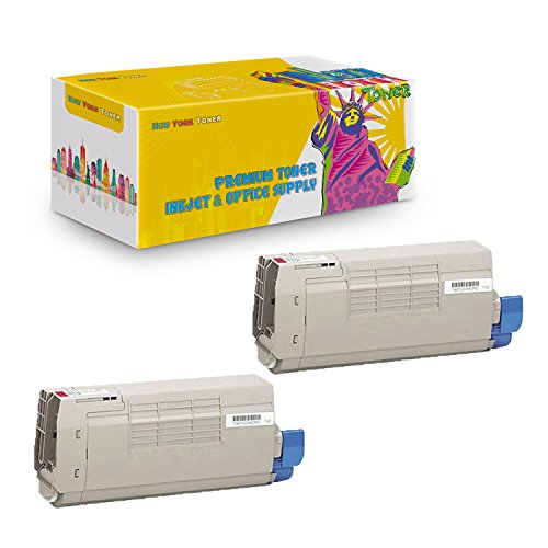 New York TonerTM New Compatible 2 Pack 44318602 High Yield Toner for Oki-Okidata : C711 | C711N | C711DN | C711DTN. -