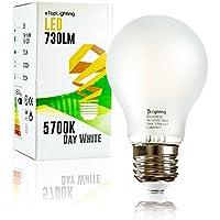 eTopLighting 1 Pack E26 Medium Base, Frost A19 LED Light Bulb, 5700K 730 Lumen, 60 Watt Replacement, Day White, UL Listed, V-VPL2011