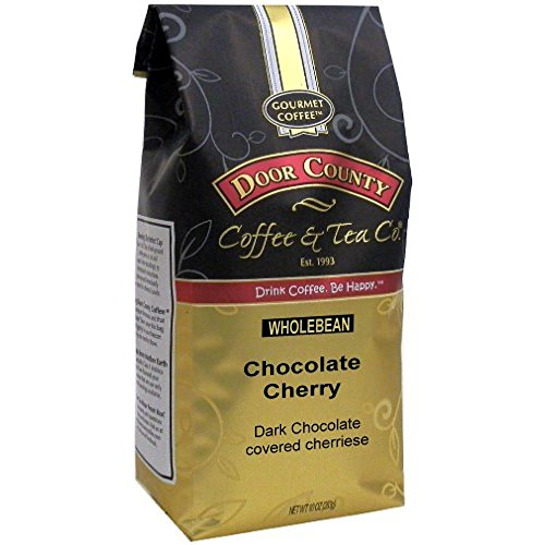 Raspberry Whole Bean Coffee - Door County Coffee, Chocolate Cherry, Flavored