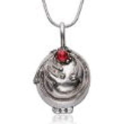 Vampire Diaries Inspired Elena Gilbert Vervain Pendant Crystal Gem Antique Necklace Locket Silver gUv6q