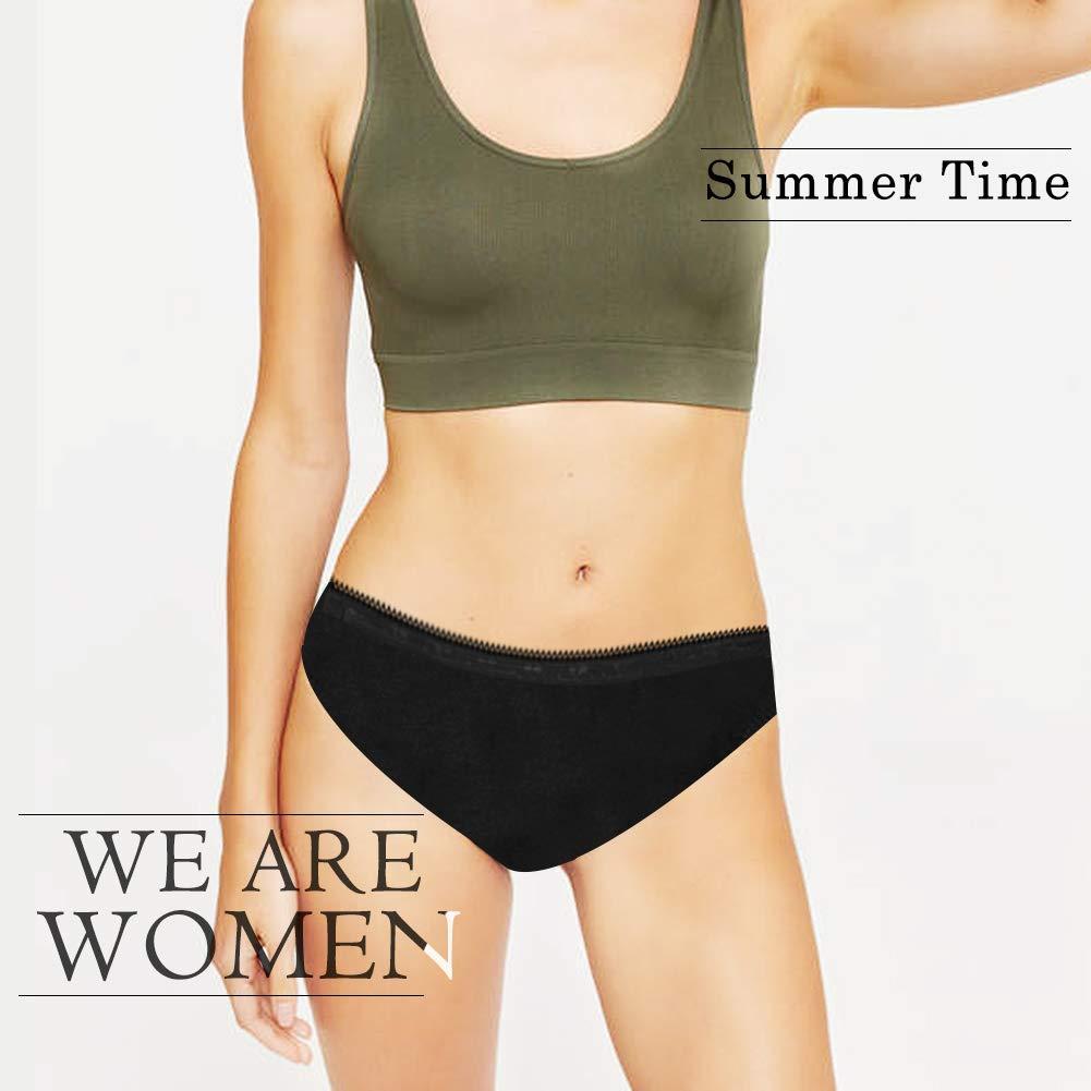 Lovemist Womens Bikini Briefs Cotton Knickers Soft Low Rise Panties Female Underwear Pack of 5//3//1