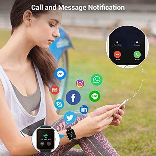 CanMixs Smart Watch for Android Phones iOS Waterproof Smart Watches for Women Men Sports Digital Watch Fitness Tracker Heart Rate Blood Oxygen Sleep Monitor Touch Screen Compatible Samsung iPhone 51ga7OxFRoL