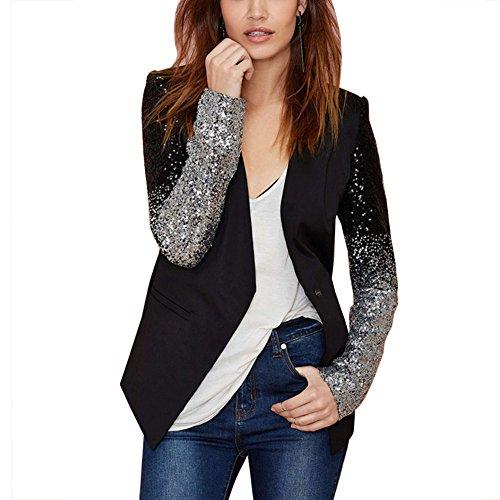 Eiffel Women's Elegant One Button Work Office Blazer Jacket ()