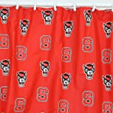 College Covers North Carolina State Wolfpack Printed Shower Curtain Cover, 70 by 72''