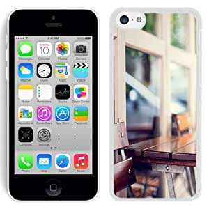 Fashionable Custom Designed iPhone 5C Phone Case With Urban Wooden Coffee Table_White Phone Case