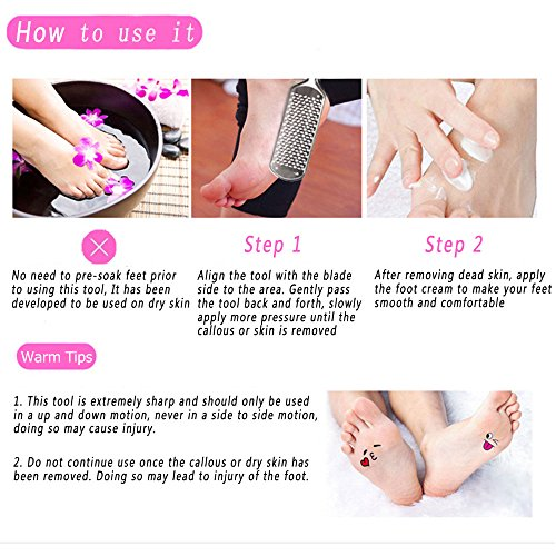 [Best Gift] MAKARTT Coarse Callus Remover Stainless Steel Blade Replaceable Home Foot File Saving Time and Money