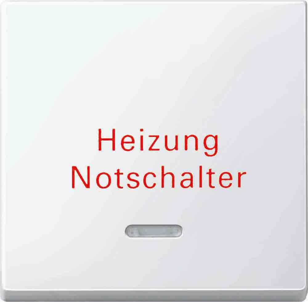 polarws Aufdruck Heizungsnotschalter Merten 435119 Wippe m Kontrollfenster u M gl/änz,Sys