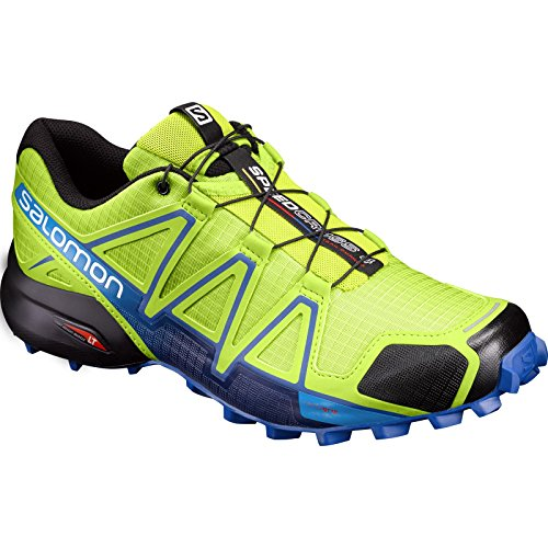 Salomon Men's Speedcross 4 Trail Runner, North Atlantic/Black/Scarlet Ibis, 7 M US