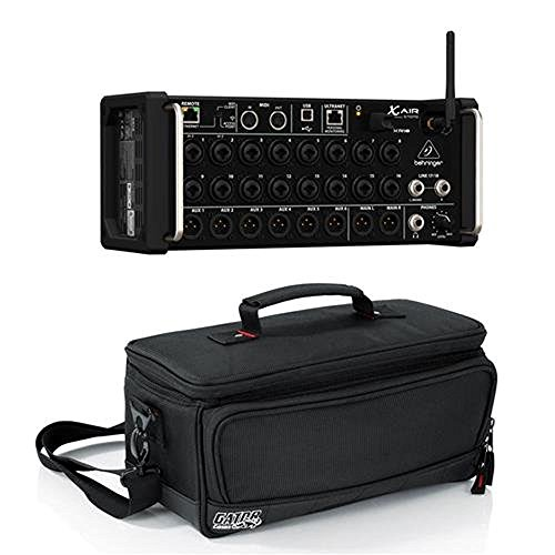 Behringer XAir XR18 18-Channel 12-Bus Portable Digital Mixer for iPad or Android Tablet, - Bundle With Gator Cases Padded Nylon Bag Custom Fit for Behringer X-AIR Mixer, (Best Tablet Controlled Mixer)