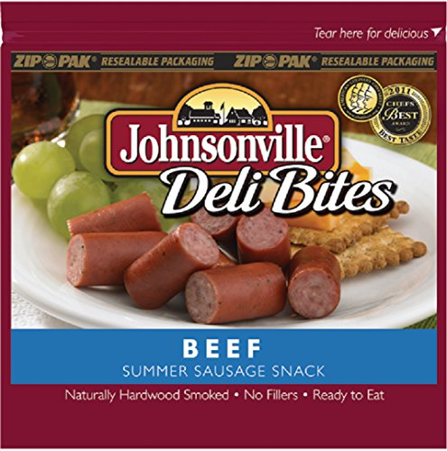 Beef 5 Ounce Bag (Johnsonville Beef Summer Sausage Deli Bites 5oz (2 Bags))