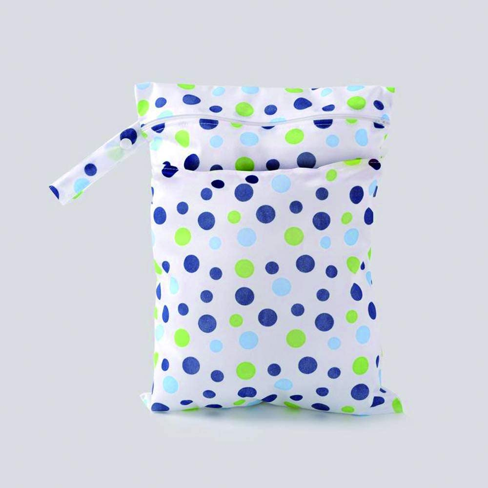 3 paquetes de pa/ñales de tela para beb/és Moje la bolsa seca con dos bolsillos con cremallera Impermeable Lavable Reutilizable Colgante Organizador de pa/ñales Moje la bolsa seca