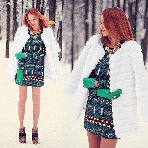inverno Bianco signore Warm capispalla Giacca cappotto di pelliccia finte cappotto Mondo giacca pelliccia faux donne cappotti Parka Donne outwear Donne Donne YqROO8