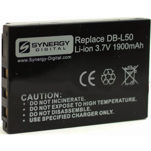 Sanyo VPC-FH1 Camcorder Battery Lithium-Ion (3.7v, 1900mAh), Replacement for Sanyo L50AU by Synergy Digital