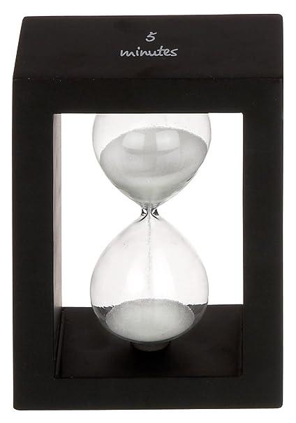 e3e1da71a32 Amazon.com  5 Minute Hourglass Timer with Black Frame and White Sand ...
