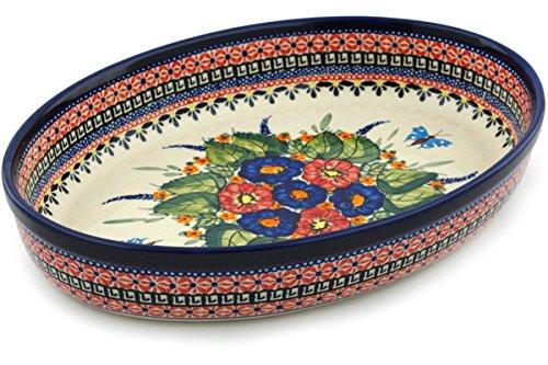 Polish Pottery Oval Baker 12-inch Spring Splendor UNIKAT by Polmedia Polish Pottery (Image #4)