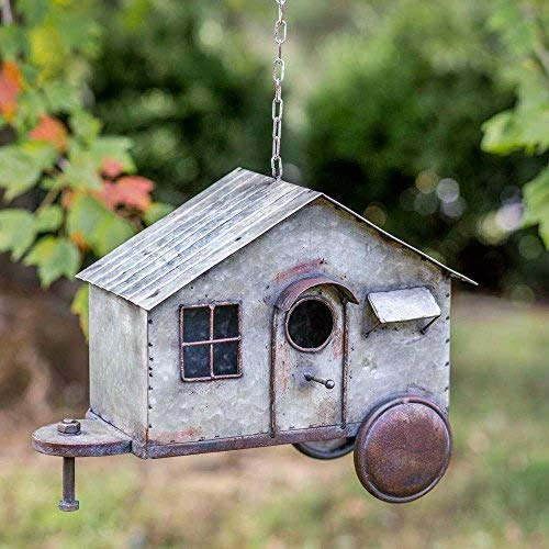 Metal Happy Camper Birdhouse ()