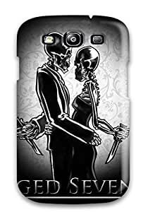 Galaxy Case - Tpu Case Protective For Galaxy S3- Skeleton Lovers Music People Music