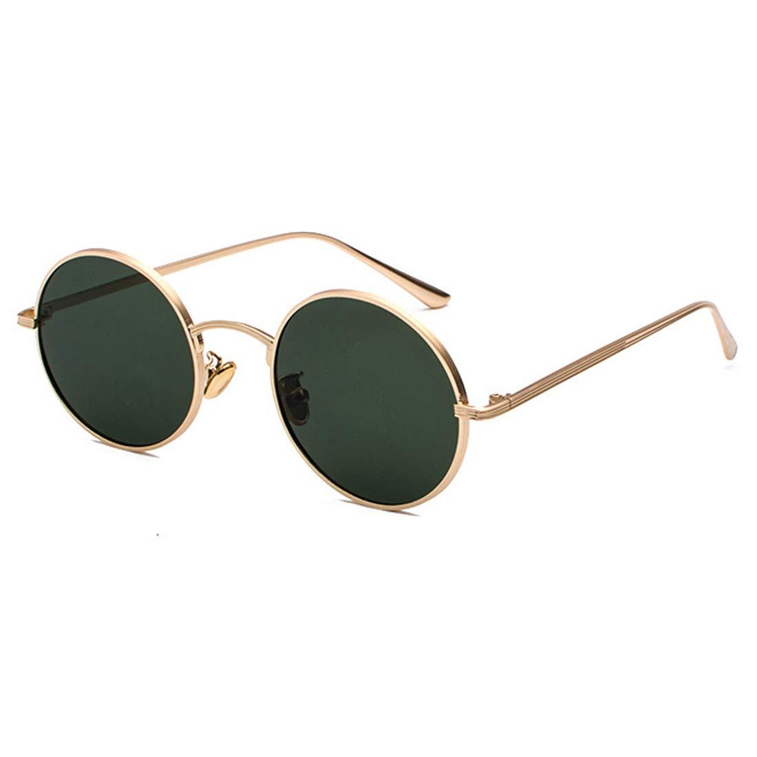 Inlefen Sonnenbrille Männer Frauen Runde Retro Vintage Kreis Stil ...