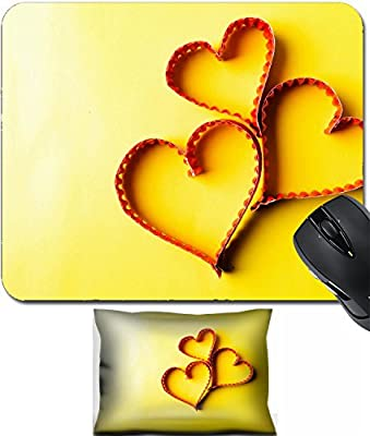 MSD Mouse Wrist Rest and Small Mousepad Set, 2pc Wrist Support design 34391757 llect Paper heart shape symbol for Valentines day with copy space for text or design